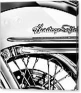 Harley Heritage Softail Monochrome Canvas Print