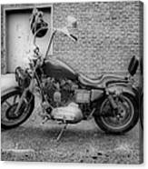 Harley In Black And White Canvas Print