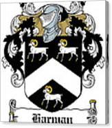 Harman Coat Of Arms Carlow Ireland Canvas Print