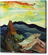 Harmonica Under Firewood Canvas Print