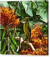 Harmoniously Green Canvas Print
