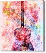 Harmony Guitar Notes Canvas Print