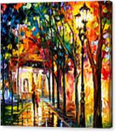Harmony - Palette Knife Oil Painting On Canvas By Leonid Afremov Canvas Print