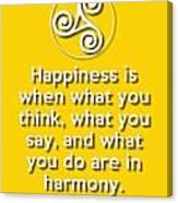 Harmony Yellow Canvas Print