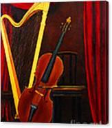 Harp And Cello Canvas Print