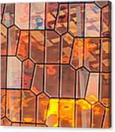 Harpa Sunset - Reykjavik Iceland Abstract Photograph Canvas Print