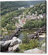 Harpers Ferry Viewed From Maryland Heights Canvas Print
