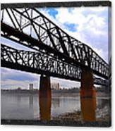 Harrahan Railroad Bridges Canvas Print