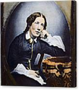 Harriet Beecher Stowe (1811-1896). American Abolitionist And Writer. Oil Over A Daguerrotype, C1852 Canvas Print