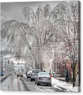 Harrisburg On Ice Canvas Print