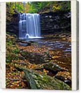Harrison Wright Falls In Autumn Canvas Print