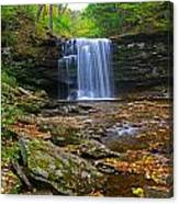 Harrison Wright Falls In Early Fall Canvas Print