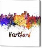 Hartford Skyline In Watercolor Canvas Print