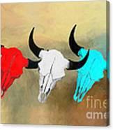 Hart's Camp Buffalo Skulls Canvas Print