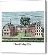 Harvard College - 1720 Canvas Print