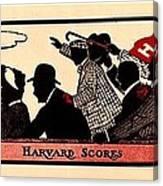Harvard Scores 1905 Canvas Print