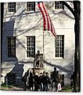 Harvard Statue Canvas Print