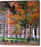 Harvard Yard Fall Colors Canvas Print
