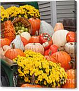 Harvest Display At The Vermont Country Store Canvas Print