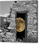 Harvest Moon Through The Magic Door Canvas Print