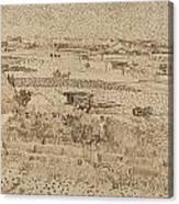Harvest  The Plain Of La Crau Canvas Print