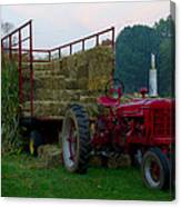 Harvest Time Tractor Canvas Print