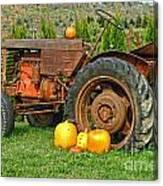 Harvest Tractor Canvas Print