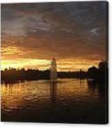 Harveston Lake Sunset Canvas Print