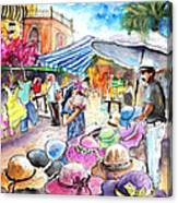 Hat Shopping At Turre Market Canvas Print