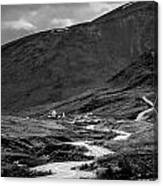 Hatcher's Pass In Black And White Canvas Print