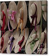 Hats In Colonial Williamsburg Canvas Print