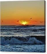 Hatteras Island Sunrise 1 11/03 Canvas Print