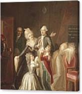Hauer, Jean Jacques 1751-1829. Louis Canvas Print