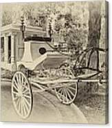 Haunted Mansion Hearse New Orleans Disneyland Heirloom Canvas Print