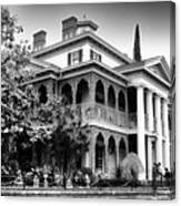 Haunted Mansion New Orleans Disneyland Bw Canvas Print