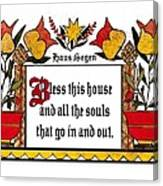 Haus Segen-house Blessing Canvas Print