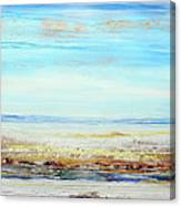 Hauxley Haven Low Tide Rhythms And Driftwood Canvas Print