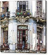 Havana Balconies Canvas Print