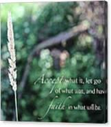 Have Faith Canvas Print