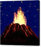 Hawaian Vulcano At Night Canvas Print