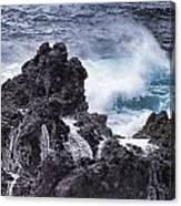 Hawaii Big Island Coastline V4 Canvas Print