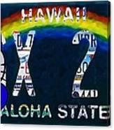 Hawaii License Plate Canvas Print