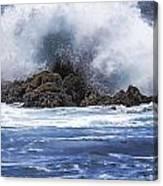 Hawaii Waves V3 Canvas Print