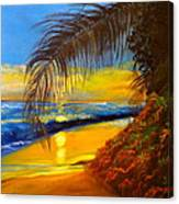 Hawaiian Coastal Sunset Canvas Print