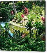 Hawaiian Cultural Garden Honolulu Airport Canvas Print