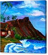 Hawaiian Homestead At Diamond Head Canvas Print