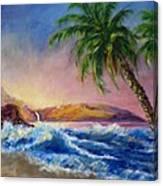 Hawaiian Setting Sun Canvas Print