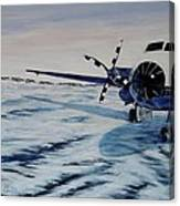 Hawker - Airplane On Ice Canvas Print