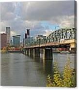 Hawthorne Bridge Portland 001 Canvas Print