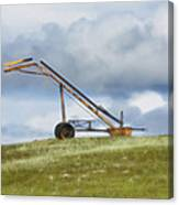 Hay Bale Loader Canvas Print